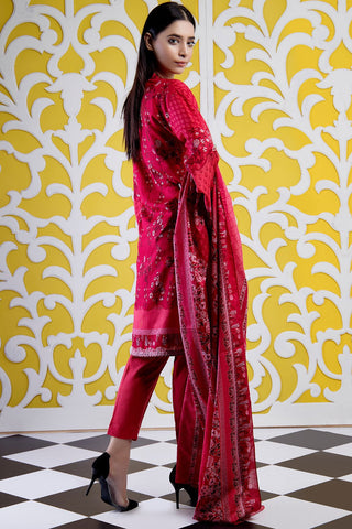 Warda Designer Collection - 3PC Lawn Print 3819402