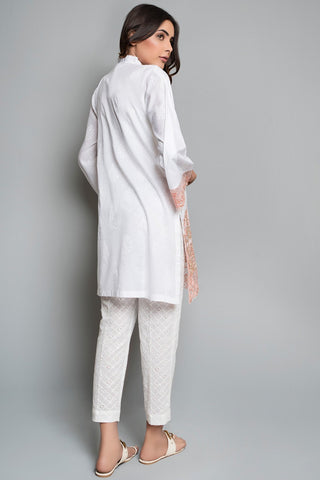 Semi Formal Shirt Solid Embroidery LPS1812 - Pret - Warda Designer Collection