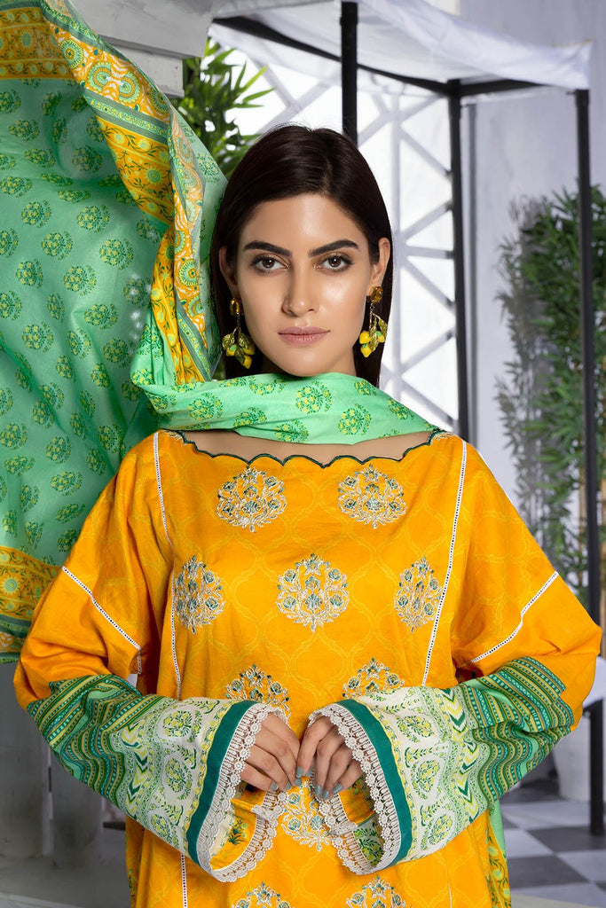Warda Designer Collection - 2PC Lawn Embroidery with Dupatta 2559369