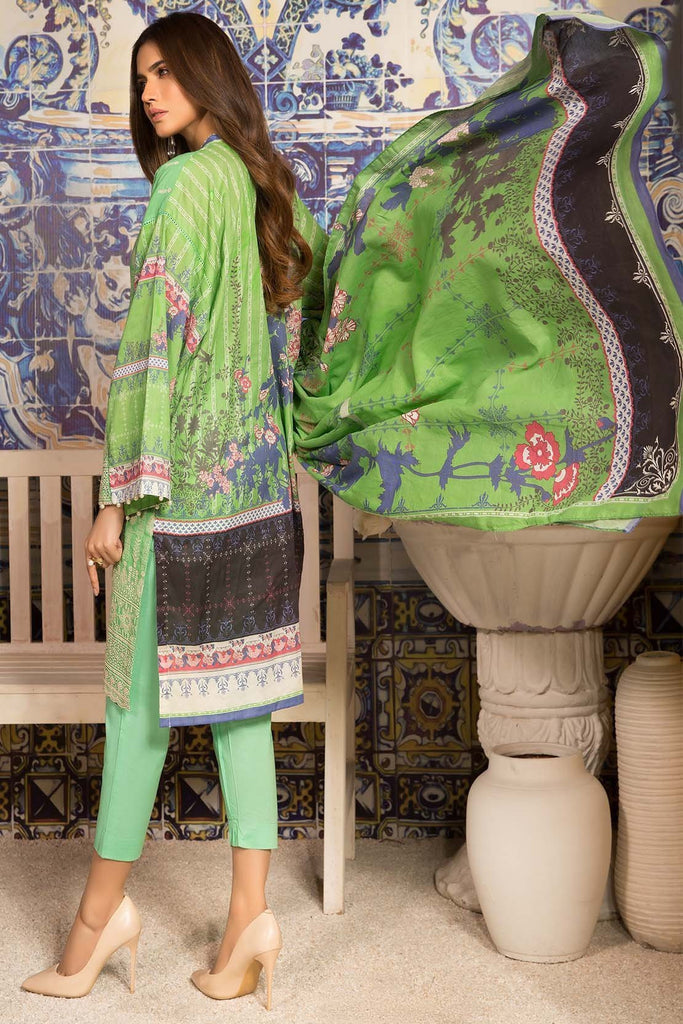 Unstitched - 3pc Lawn Chikan Kari 3819082 - Warda Designer Collection