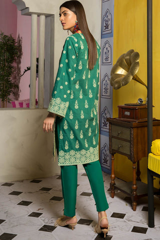 Warda Designer Collection - 2PC Lawn Chikan Kari with Trouser 2559486
