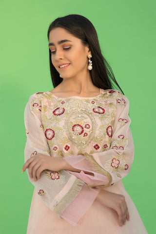 Flow Stitched Embroidered Shirt with Inner LS19079