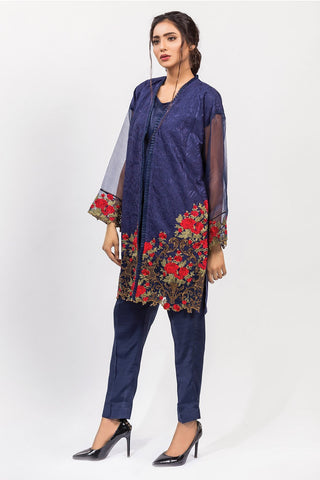 Warda Designer Collection - Stitched Embroidered Shirt with Inner LPS1813