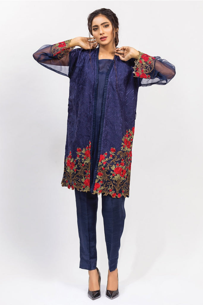Stitched Embroidered Shirt with Inner LPS1813 - Pret - Warda Designer Collection