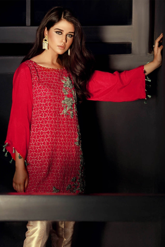 Stitched Single Shirt Formal Embroidery LPSS756 - Pret - Warda Designer Collection
