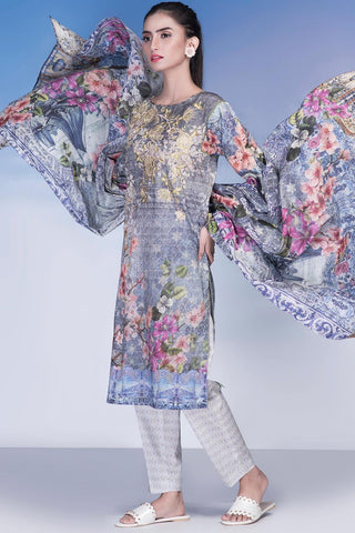 3PC Lawn Print Embroidery LS17061