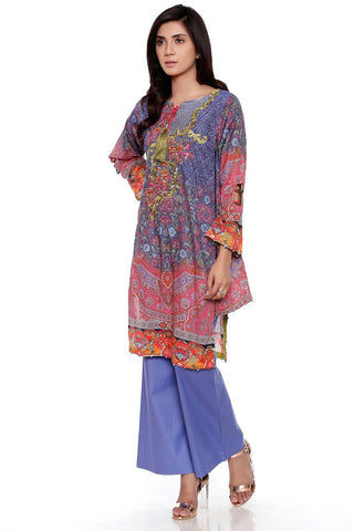 3PC Digital Chiffon Lawn Embroidery LS17112 - Pret - Warda Designer Collection