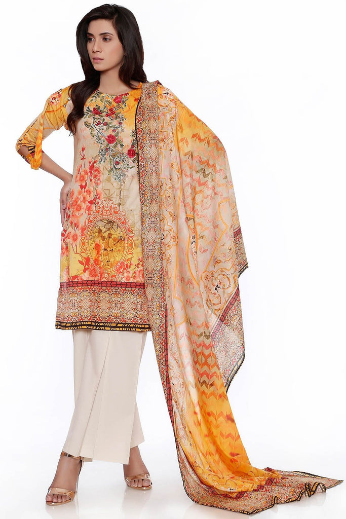 Warda Designer Collection - 3PC Lawn Print Embroidery LS17132