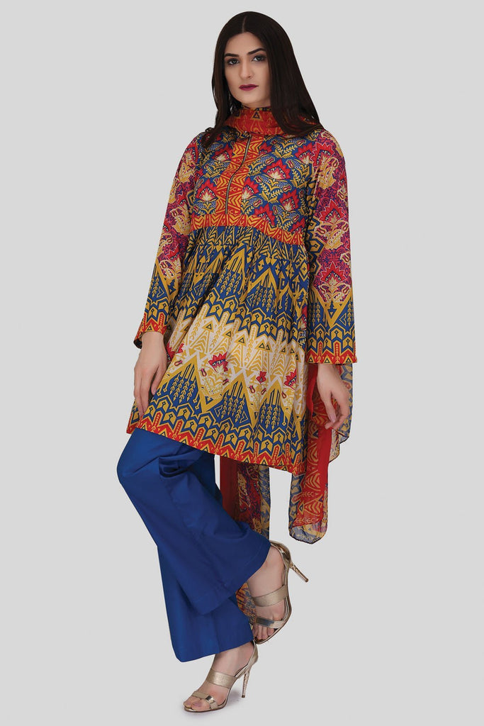 Pret - 3PC Chiffon Lawn Print LS18004 - Warda Designer Collection