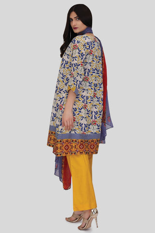 Warda Designer Collection - 3PC Chiffon Lawn Print LS18007