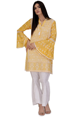 Warda Designer Collection - Single Shirt Solid Chikan Kari Embroidery LS18050