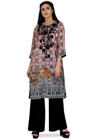 Warda Designer Collection - Single Shirt Print Embroidery LS18067