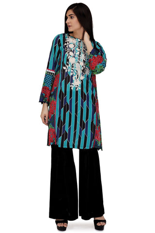 Warda Designer Collection - Single Shirt Lawn Print Embroidery LS18078