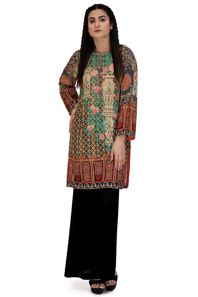 Single Shirt Lawn Print Embroidery LS18080 - Pret - Warda Designer Collection