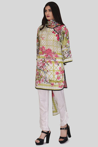 Warda Designer Collection - 3PC Lawn Print LS18090