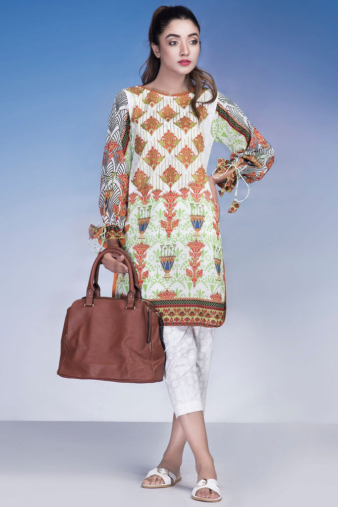 Warda Designer Collection - Single Shirt Lawn Print Embroidery (Kashmir) LS18096
