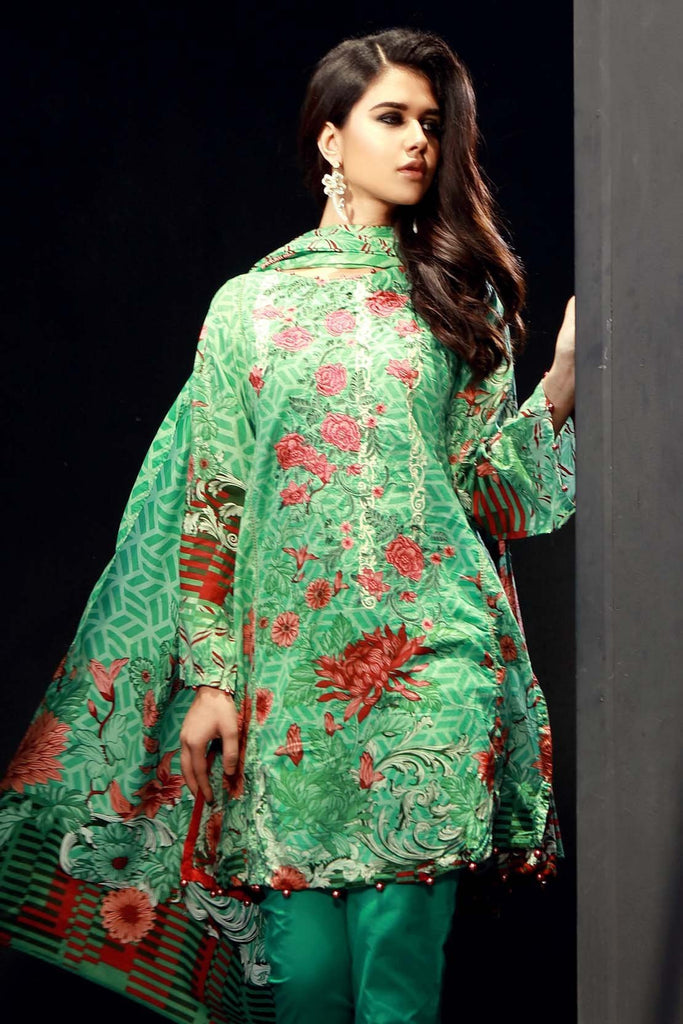 3PC Lawn Embroidery (MH) LS18105 - Pret - Warda Designer Collection