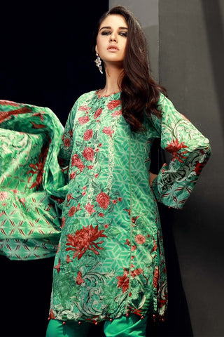 Pret - 3PC Lawn Embroidery (MH) LS18105 - Warda Designer Collection