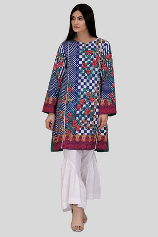 Warda Designer Collection - Single Shirt Lawn Print LS18112