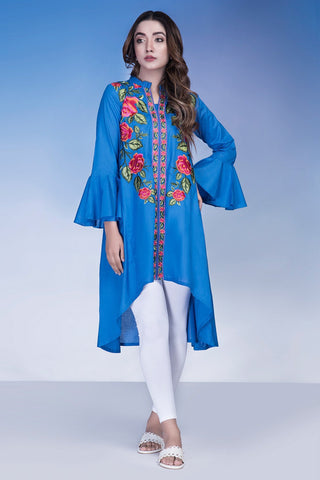Single Shirt Solid Embroidery LS18176