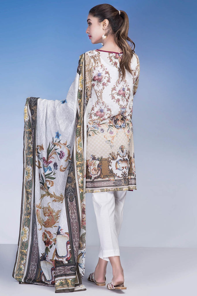 3PC Lawn Embroidery LS18219 - Pret - Warda Designer Collection