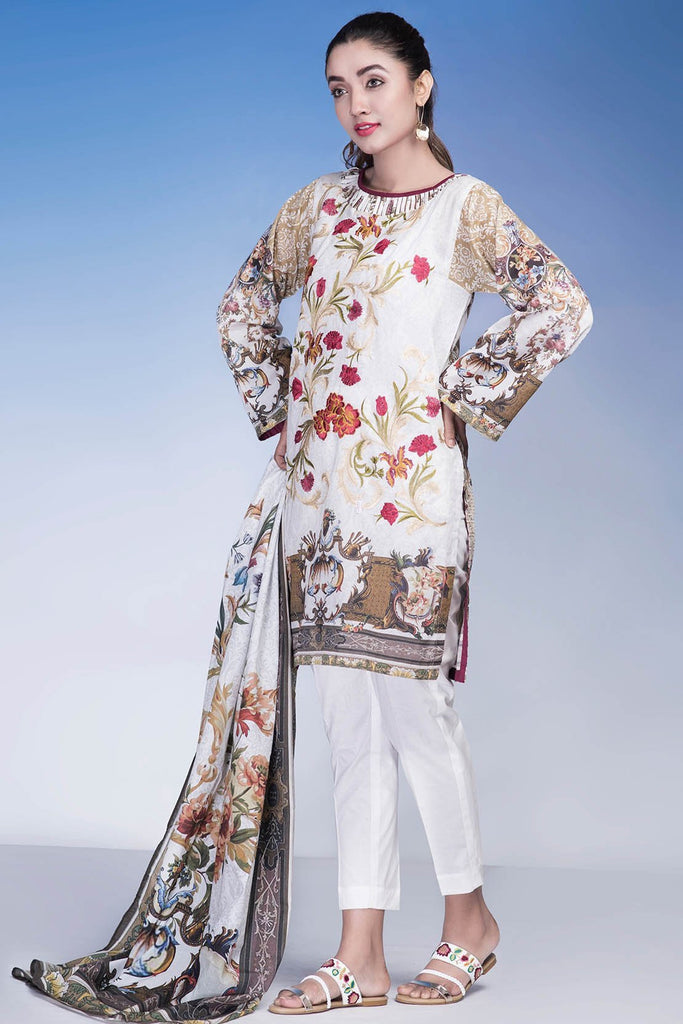 Warda Designer Collection - 3PC Lawn Embroidery LS18219