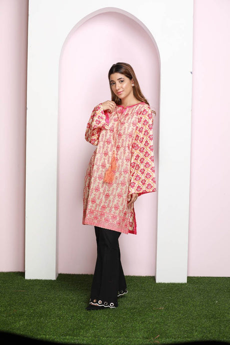 Single Shirt Lawn Chikan Kari LS18246