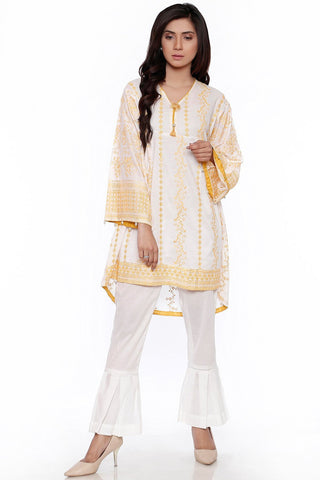 Single Shirt Chikan Kari LS18908 - Pret - Warda Designer Collection