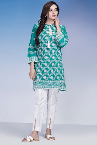 Single Shirt Solid Chikan Kari LS18923 - Pret - Warda Designer Collection