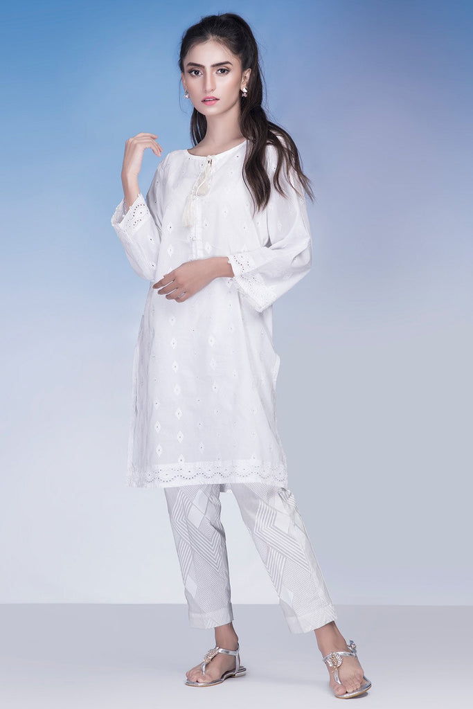 Single Shirt Chikan Kari Solid Chikan Kari LS18930 - Pret - Warda Designer Collection