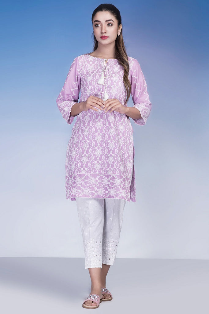 Warda Designer Collection - Single Shirt Solid Chikan Kari LS18931 (QC Issue Sleeve length)