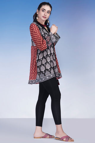 Single Shirt Fusion Print LS19007 - Pret - Warda Designer Collection