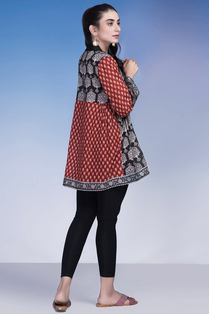 Warda Designer Collection - Single Shirt Fusion Print LS19007