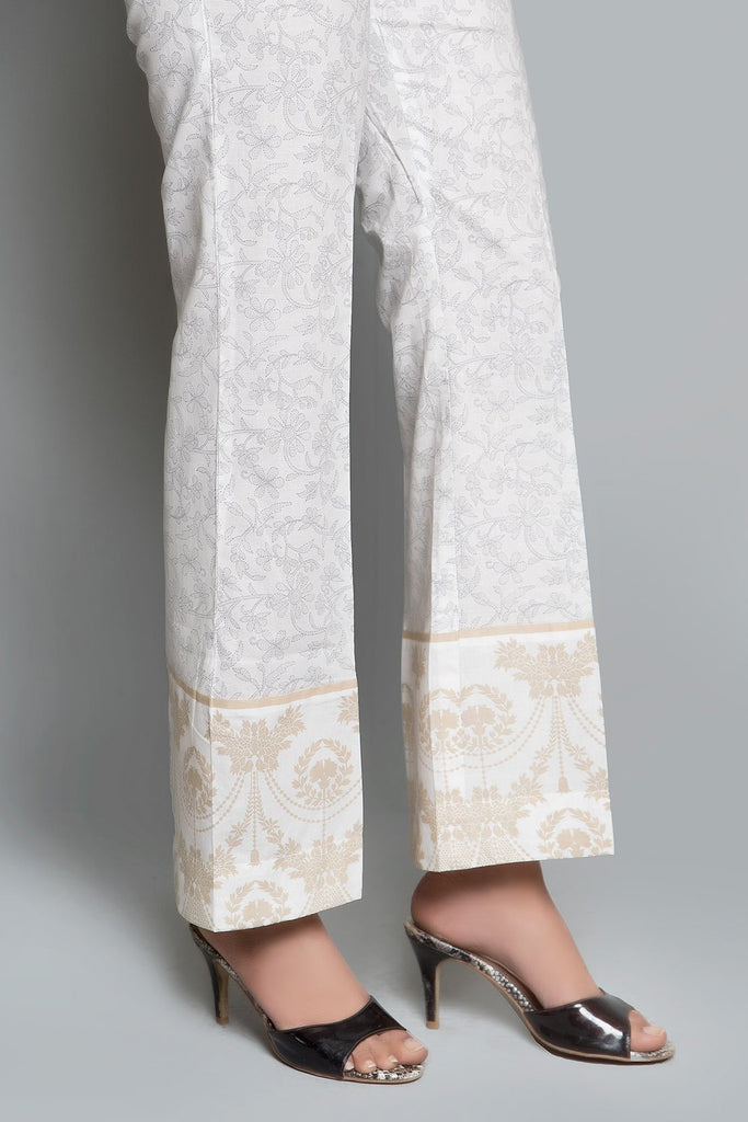 PRINTED TROUSER Printed LS19045 - Bottoms - Warda Designer Collection