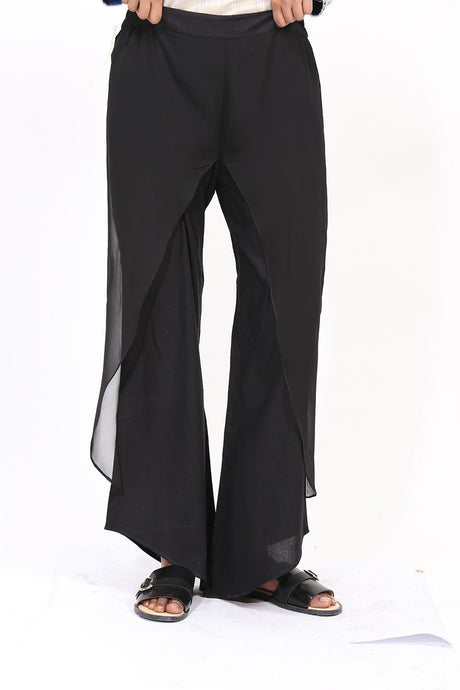 Dyed Trouser (With Cut) LS19052 - Bottoms - Warda Designer Collection