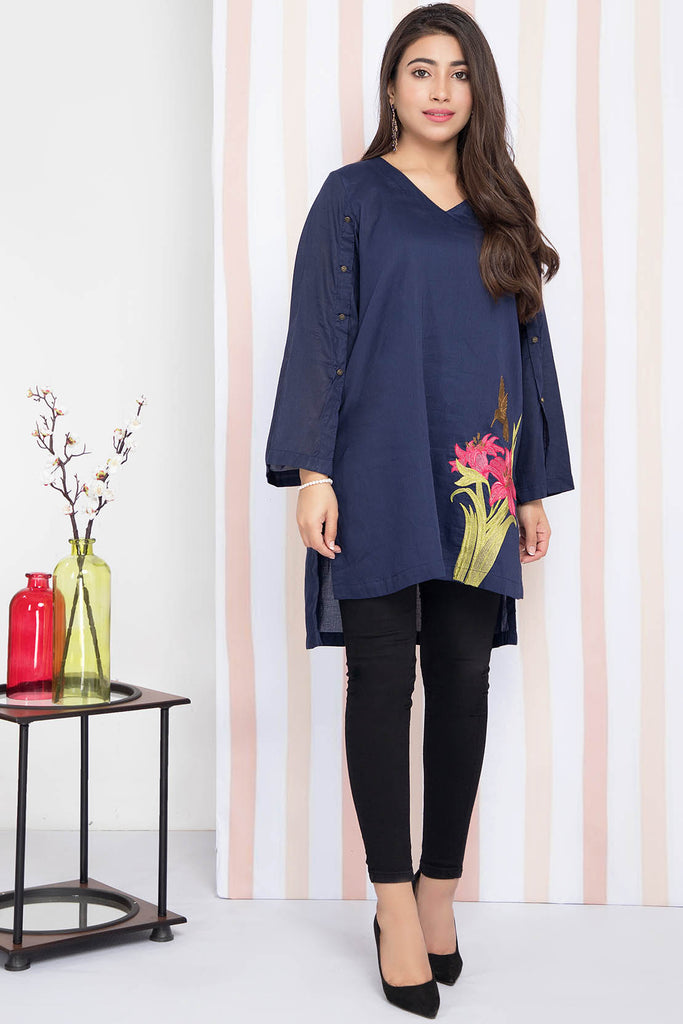 Single shirt Solid Embroidery LS20052
