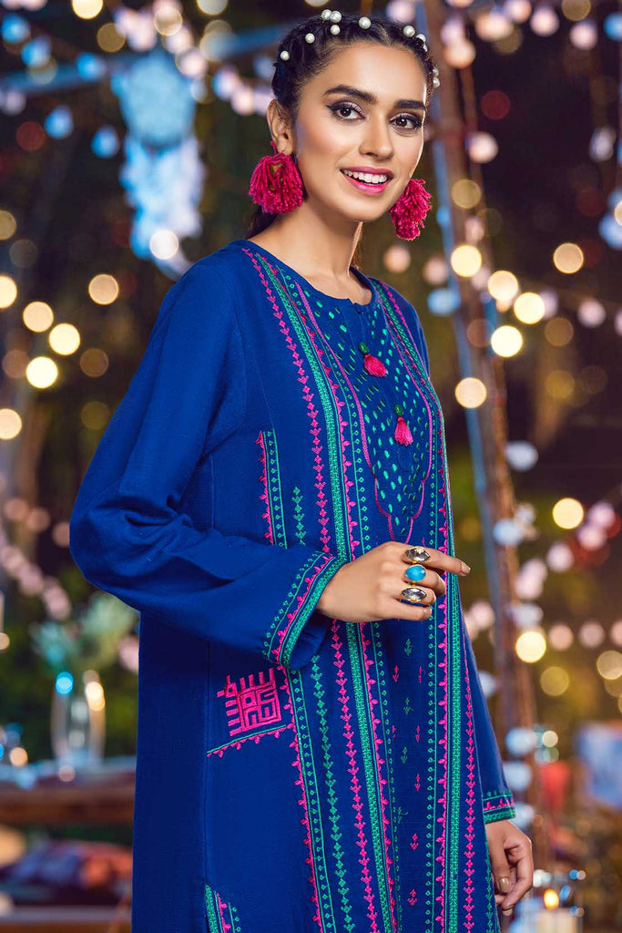 2PC Solid Khaddar Embroidery (With Trouser) LW20535