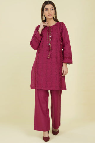 2PC Solid Khaddar Embroidery (With Trouser) LW20545