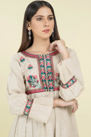 Bold Single Shirt Solid Khaddar Embroidery LW20549