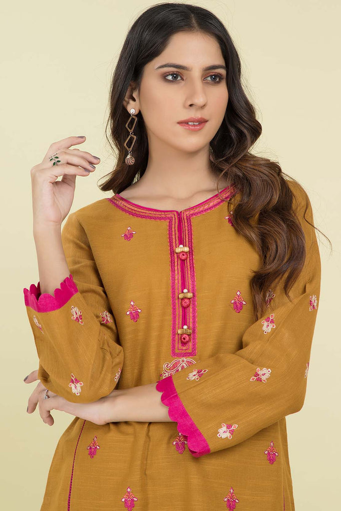 Single Shirt Solid Khaddar Embroidery LW20585
