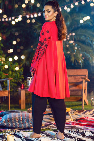 Single Shirt Solid Khaddar Embroidery LW20591