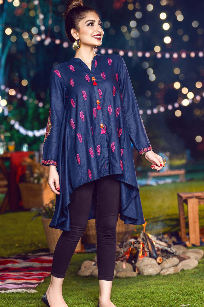 Single Shirt Solid Khaddar Embroidery LW20594