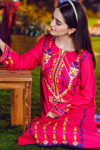 Single Shirt Solid Khaddar Embroidery LW20602