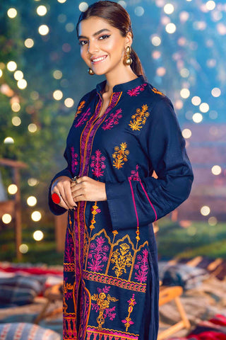 2PC Solid Khaddar Embroidery (With Trouser) LW20605