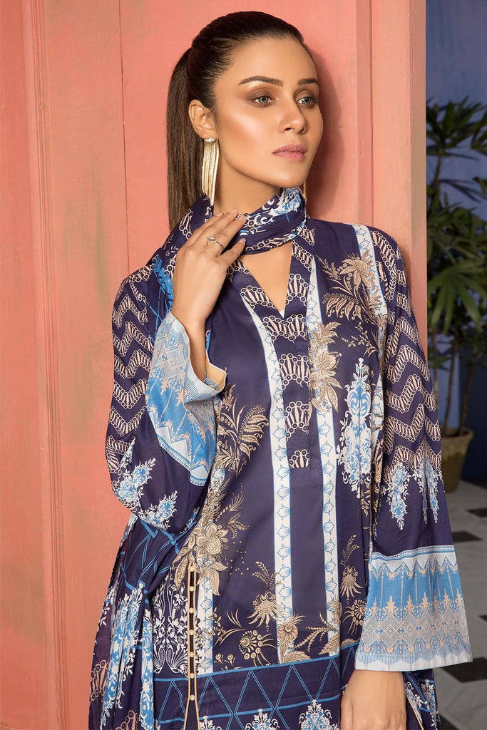 Warda Designer Collection - 3PC Lawn Print 389031A
