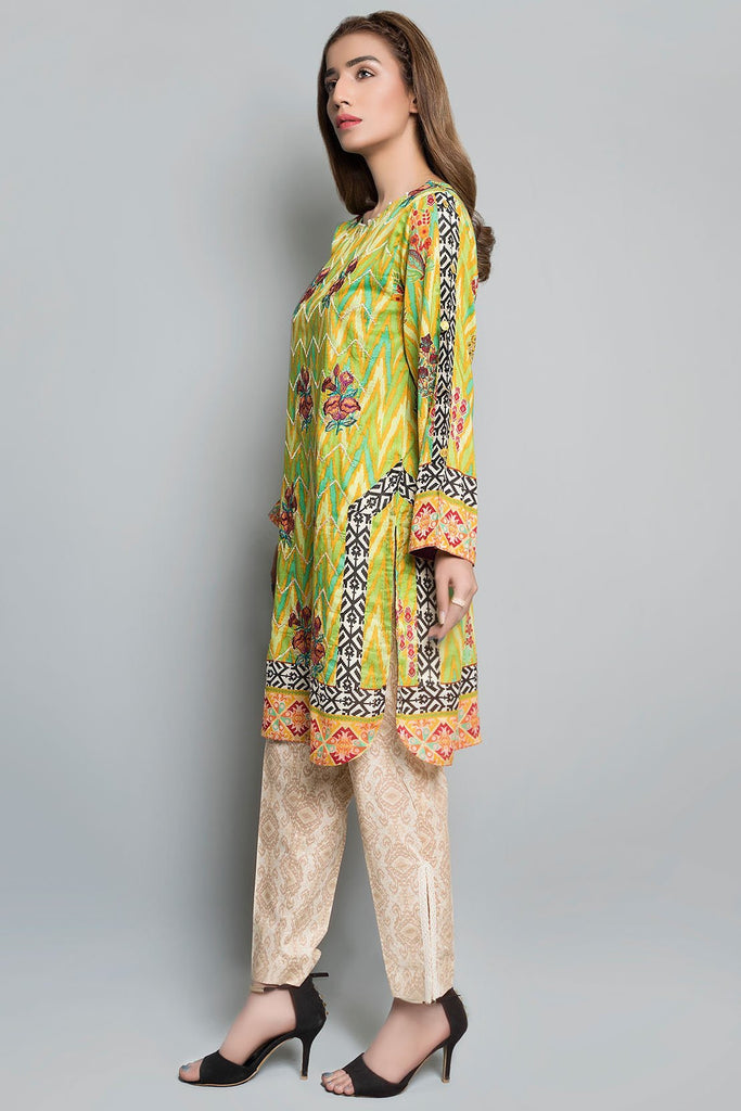 Single Shirt Lawn Embroidery Print Embroidery LS18213 - Pret - Warda Designer Collection