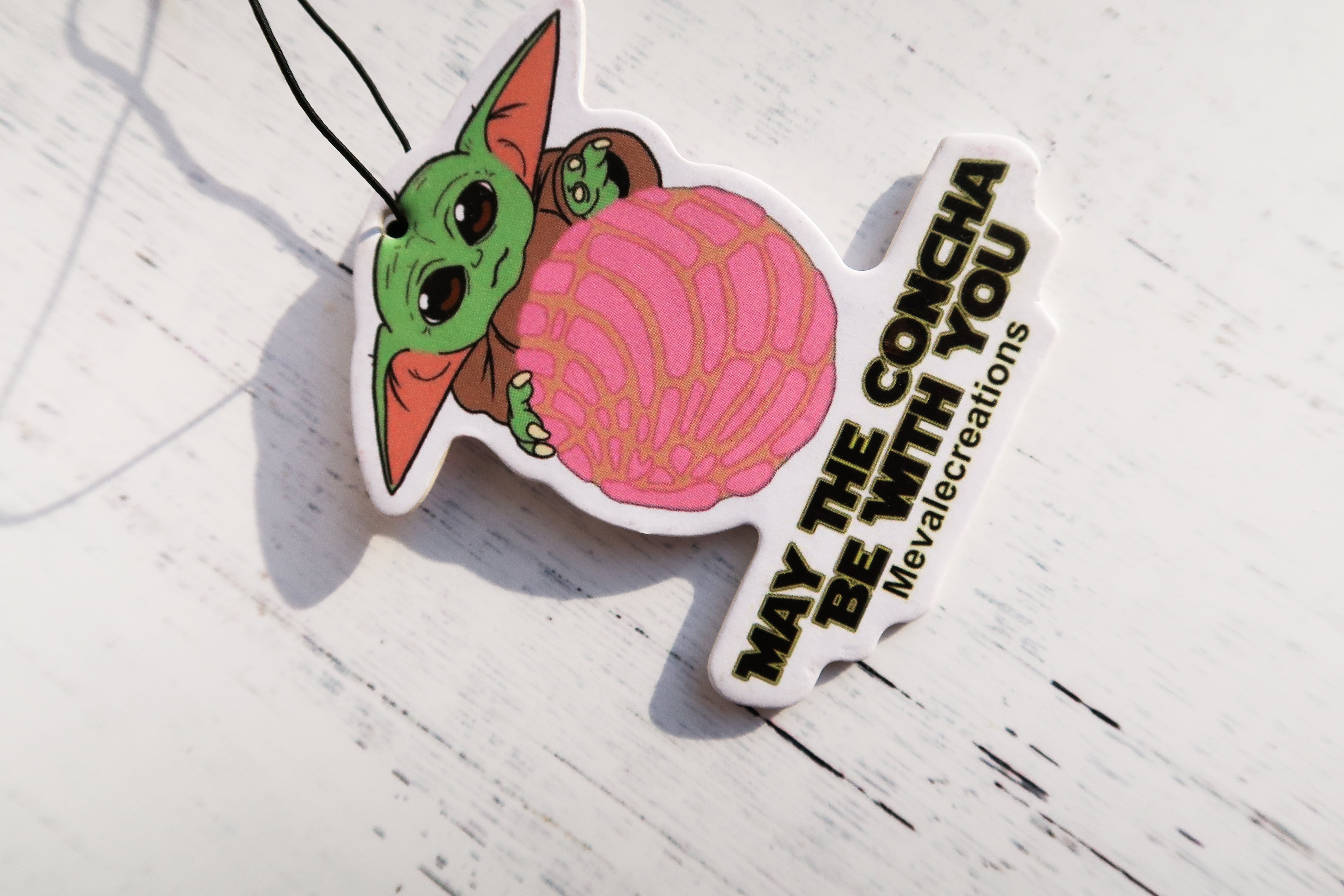 """May The Concha Be W/You"" Air Freshener"