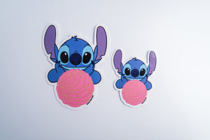 STICKER Stitch with pink concha