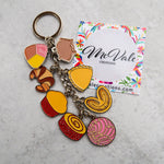 8pc Pan Dulce Silver Keychain