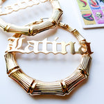"""LATINA"" hoop earrings"